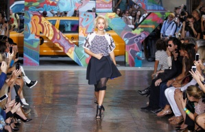 The real deal. Rita Ora walking at DKNY S/S 14.